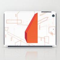 blueprint iPad Cases featuring Blueprint #2 (red) by iamerichiggins