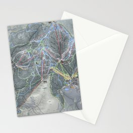 Killington Resort Trail Map Stationery Cards