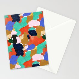 Kara - paint palette abstract minimal modern art bright colorful boho urban painting college dorm Stationery Cards