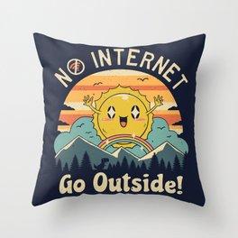 No Internet Vibes! Throw Pillow