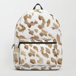 Golden Leopard Print Design Backpack