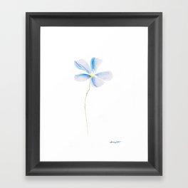 Floral Baby Blue Framed Art Print