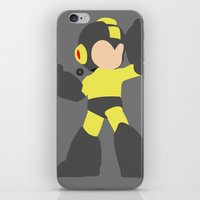 mega man iPhone & iPod Skins featuring Mega Man(Smash)Black by ejgomez