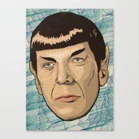 spock Canvas Prints featuring Spock by Mimi
