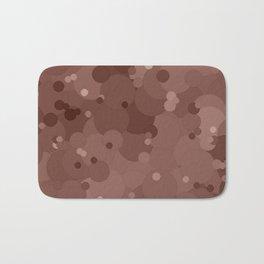 Cognac Bubble Dot Color Accent Bath Mat