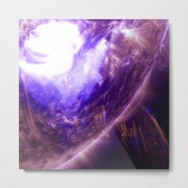 Purple Star Metal Print