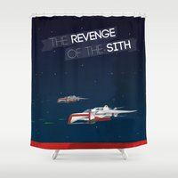 sith Shower Curtains featuring Revenge of the Sith by Clément Tholance