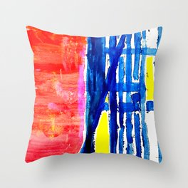 Crossed roads Throw Pillow