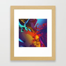 New Dream. Blue, Yellow and Red Abstract. Framed Art Print
