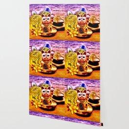 Glückskatze Wallpaper