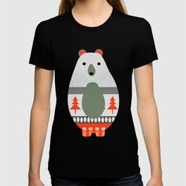 Christmas bears and birds T-shirt