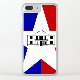American cities-  Flag of San antonio Clear iPhone Case