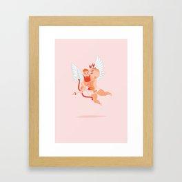 Naughty Cupid Framed Art Print