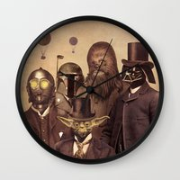 victorian Wall Clocks featuring Victorian Wars  - square format by Terry Fan