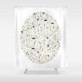 Sheep. Shower Curtain