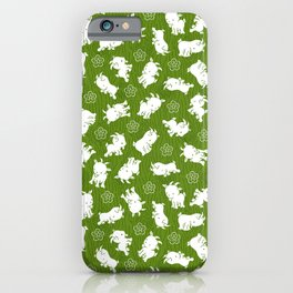 Ditsy Goat Green iPhone Case
