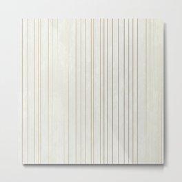 Golden Stripe Metal Print