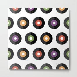 Vinyl times Metal Print