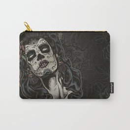Day of The Dead Woman Carry-All Pouch