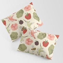 Hummingbirds in the Garden Pattern Pillow Sham