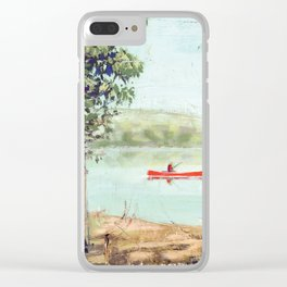 fishing - by phil art guy Clear iPhone Case