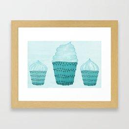 Iced Cupcakes  Framed Art Print