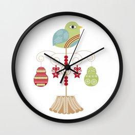 Christmas Patridge Wall Clock