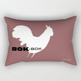 Bok-Bok, Kitchen Rooster from 'Winter Things' Series Rectangular Pillow