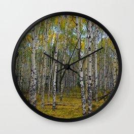 Trembling Aspen's in the Fall, Jasper National Park Wall Clock