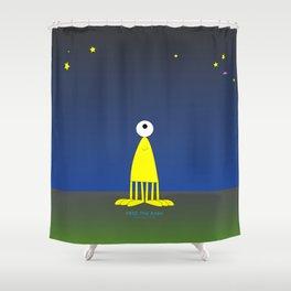 Fred The Alien sky Shower Curtain
