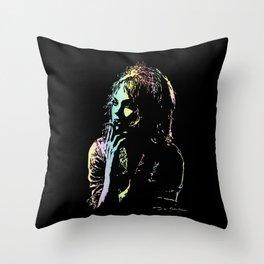 Girl Smoking Throw Pillow