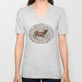 Elk in Nature Unisex V-Neck