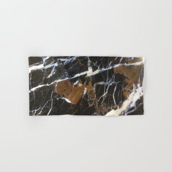 Stylish Polished Black Marble Hand & Bath Towel