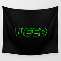 weed Wall Tapestries featuring WEED _ 2 by LOOSECANNONGEAR