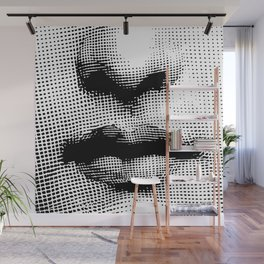 Lina Cavalieri - nose and mouth Wall Mural