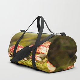 Beautiful but toxic - Fly agaric - Amanita - Autumn illustration - #society6 #buyart Duffle Bag