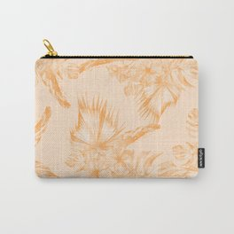 Island Vacation Hibiscus Coral Mango Orange Carry-All Pouch