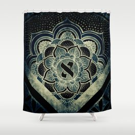 Sacred Geometry for your daily life - ESOTERIC ALEPH KYBALION EYE Shower Curtain