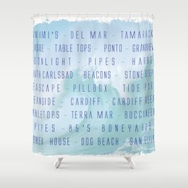North County Surf Shower Curtain