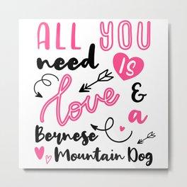 Bernese Mountain Dog  Owner Gift Idea Metal Print