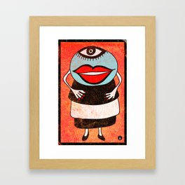 Miss One Eye Framed Art Print