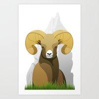 ram Art Prints featuring Ram by Porto881