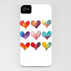 color of hearts iPhone (4, 4s) Slim Case