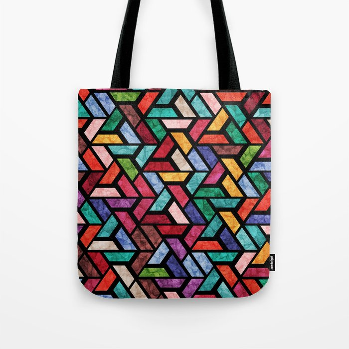 Seamless Colorful Geometric Pattern VII Tote Bag