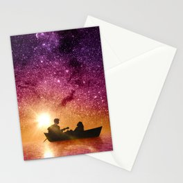 Serenade in the night Stationery Cards