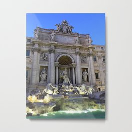 Color trevi fountain, rome italy Metal Print