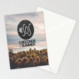 5 seconds of summer sunflowers Stationery Cards
