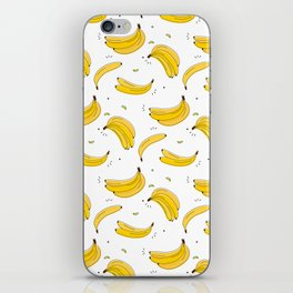Banana print iPhone Skin