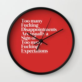 Disappointments Wall Clock