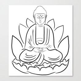 Yogi Buddha Canvas Print